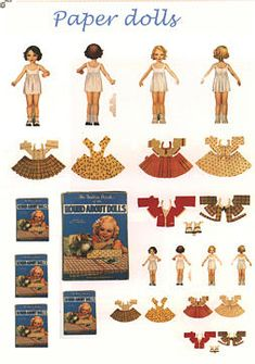 printable miniatures for dollhouses   Paper Dolls I wonder if the clothes could be used as patterns for small doll clothes