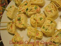 Receita Aperitivo : Wrap de kani, creme de mostarda e cebolinha de Daniella Carrara