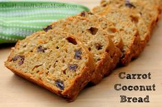 Schwinn Bikes, Granola, Vera Bradley, Carrot Coconut Bread Recipe and More - One Hundred Dollars a Month Fruit Bread, Dessert Bread, Baking Recipes, Cake Recipes, Bread Recipes, Coconut Bread Recipe, Bread Bowls, Carrot Recipes, What To Cook