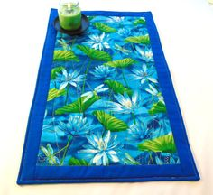 Quilted altar cloth blue dragonflies and blue by TalithasAltar Blue Dragonfly, Blue Lotus, Personal Altar, Picnic Blanket, Outdoor Blanket, Altar Cloth, Table Covers, Dragonflies, Faeries