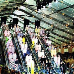 The Louis Vuitton runway show in Paris.