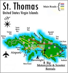 One Week Itinerary For The US Virgin Islands Including St Thomas - Map of st thomas us virgin islands