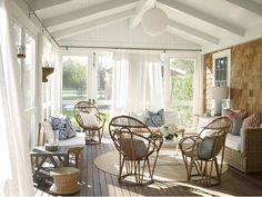 Out East: Houses and Gardens of the Hamptons, Jennifer Ash Rudick Hamptons house Porch Decorating, Interior Decorating, Interior Design, Decorating Ideas, Decor Ideas, Hamptons House, The Hamptons, Fresco, Outdoor Spaces
