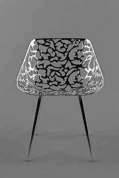 Miss Lacy by Drdik silver chair with patterns #furniture #chair #design #silver