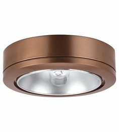 Sea Gull Lighting Ambiance Disk 1 Light Accent Disk Light in Cinnamon 9858-742 #lightingnewyork #lny #lighting