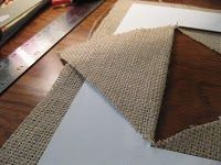 "Great ""how-to"" make a fabric mat for a picture!"