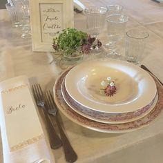 Mise en place By Riso e Risa Ricevimenti, presso Corte Dei Paduli - Wedding Location - Reggio Emilia, Italy. www.deipaduli.org