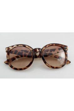 Leopard Cat Eye Round Sunglasses $28.00