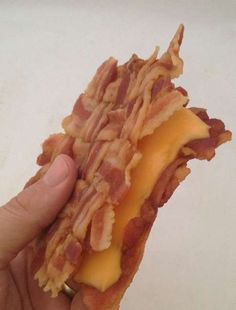 bacon weave grilled cheese- gives me a reason to go on the Atkins Diet
