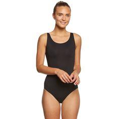Bloch Faire Performance Tank Yoga & Dance Leotard ($20) ❤ liked on Polyvore featuring activewear, activewear tops, shelf bra, balcony bra, bloch, yoga sportswear and yoga activewear