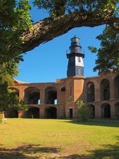 Dry Tortugas National Park ~ Fortress Lighthouse ~ Florida.  Photo:  Terry.Tyson, via Flickr