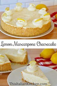 No-Bake Lemon Mascarpone Cheesecake.