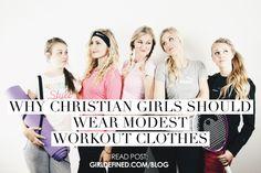 Why Christian Girls Should Wear Modest Workout Clothes - Workout Wear Modest Outfits, Modest Fashion, Cute Outfits, Modest Wear, Modest Clothing, Clothing Styles, Modest Workout Clothes, Sport Outfit, Christian Girls