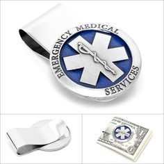 $75.00 Cufflinks, Inc. Pewter Emergency Medical Services (E.M.S) Money Clip  http://www.walletoutlet.com/ #moneyclip #mensfashion #menswear