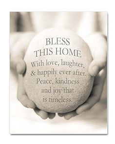 """Bless This Home Print, New Home Gift, Housewarming Gift, 8x10"""", New Home Quote, New Home Blessing, Housewarming Quote (11x14"""") Ocean Drop Photography http://www.amazon.com/dp/B019XD6QYS/ref=cm_sw_r_pi_dp_N9WGwb0BMHSWA"""