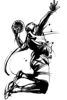 バスケットボール Cool Art, Graphic Design, Sketching, Samurai, Anime, Basketball, Graphics, Illustrations, People