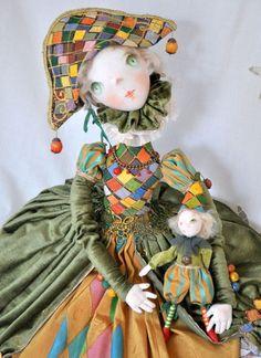 Коллекционные куклы ручной работы. Заказать Авторская кукла На карнавал. Татьяна Пущина. Ярмарка Мастеров. Авторская кукла