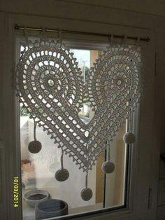 Giant crocheted heart