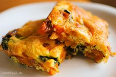 Slimming Eats Sweet Potato and Spinach Frittata - gluten free, dairy free, paleo, vegetarian, Slimming World and Weight Watchers friendly Slimming World Dinners, Slimming World Breakfast, Slimming Eats, Slimming World Recipes, Slimming World Sweets, Easy Healthy Recipes, Veggie Recipes, Vegetarian Recipes, Cooking Recipes