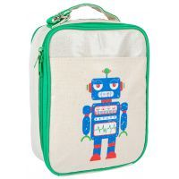 Apple and Mint Green Robot Lunch Bag #mamadoo #backtoschool