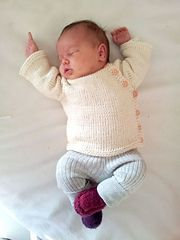 Ravelry: Puerperium Cardigan pattern by Kelly Brooker. Free Baby Knit Pattern - top-down seamless in construction, DK weight, Side button, long- or short-sleeve
