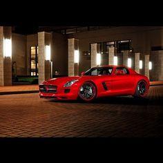 Mercedes Benz SLS red devil!
