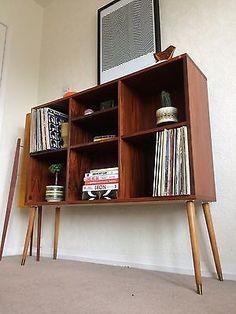 1960s Teak Shelving Unit With Cupboard & Drawers Midcentury Danish Heals Vintage