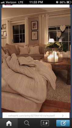 Beige living room/ too bad I can't have so much white in my living room
