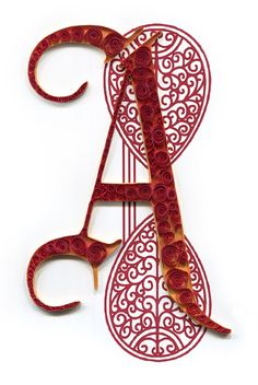Quilled A by all things paper, via Flickr@Katie Noblitt