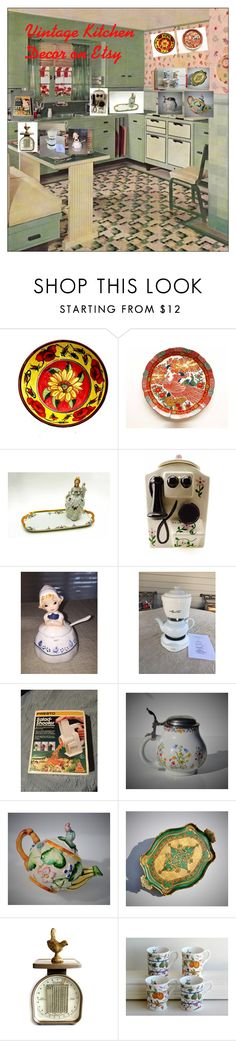 """""""Vintage Kitchen Decor!"""" by luckystanlv on Polyvore featuring interior, interiors, interior design, home, home decor, interior decorating, Retrò, kitchen and vintage"""