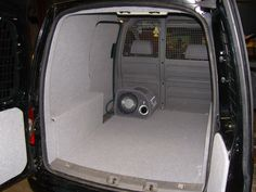 VW Caddy - light grey carpeting to all panels Caddy Van, Volkswagen Caddy, Van Accessories, Cool Campers, Camper Van, Van Life, Transportation, Vans, Golf
