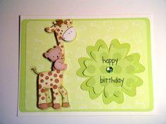 Giraffe and Koala Baby 1st Birthday Card by BethiesCards on Etsy, $6.00