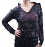 SINFUL by Affliction Utopia Skull Zip Womens Hoodie $54.99