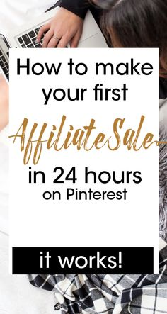 In my step-by-step guide I will show you exactly how I made my first affiliate sale in less than 24 hours using Pinterest so you can start making sales today rather than months from now.