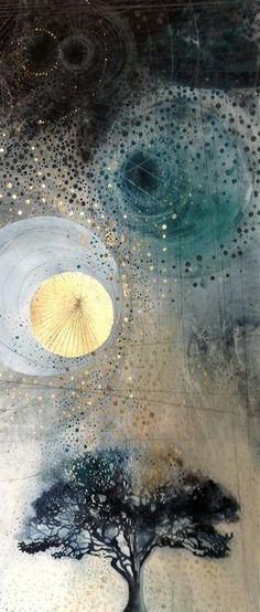 The Oak - 2013 | Watercolour, acrylic, metal leaf, pencil cr… | Louisa Boyd | Flickr