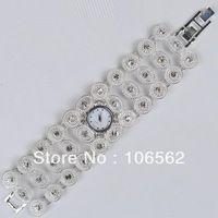 free shipping High quality antique silver alloy with crystal diamond ladies fashion quartz wrist adjustable watch