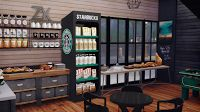 My Sims 4 Blog: Starbucks Coffee Shop Lot and Objects by DreamTeamSims