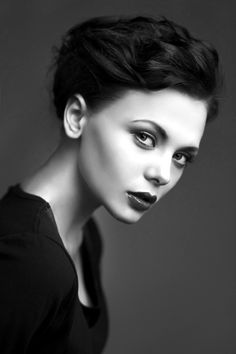 black and white portrait... Photo by Dmitry Ragin