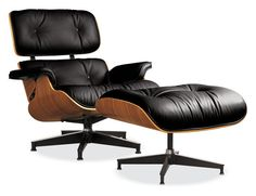 The Charles and Ray Eames Lounge Chair, designed in the early fifites and manufactured by Herman Miller beginning in 1956.  This is possibly the most famous chair in the world and certainly among the most comfortable.