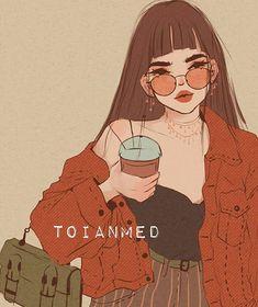 Cute Art Styles, Animes Wallpapers, People Art, Pretty Art, Grafik Design, Aesthetic Art, Cartoon Art, Cute Drawings, Art Girl