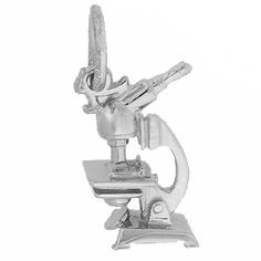 Sterling Silver Microscope Charm by Rembrandt Charms