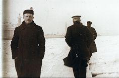 Автралиец в России, около замёрзшей Невы, 1910 год