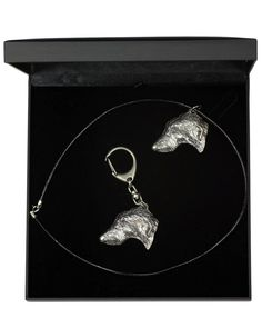 Deerhound, Dog Keyring and Necklace in Casket, Deluxe Set, Limited Edition, ArtDog Casket, Jewelry Sets, Dog Lovers, Statue, Dogs, Silver, Image Link, Gifts, Etsy