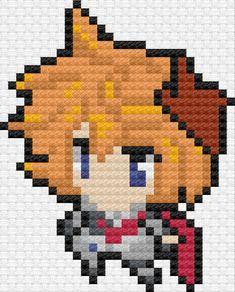 Pearl Beads Pattern, Hama Beads Patterns, Beading Patterns, Beaded Cross Stitch, Cross Stitch Patterns, Pixel Art Grid, Anime Pixel Art, Pixel Design, Iron Beads