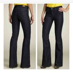 Paige Jeans Rising Glen Size 31 These jeans are amazing & in excellent condition! Wish they fit me, but sadly they do not. Purchased from another Posher, I'd like to make my money back & spread the denim love Paige Jeans Jeans Flare & Wide Leg
