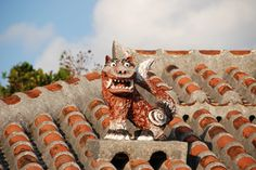 A Seesaa on the roof.