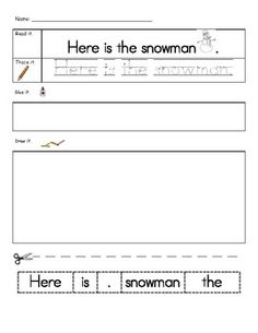 Your students will love practicing their sight words with this activity.  Students will read, write, re-arrange, and illustrate sentences with a wi...