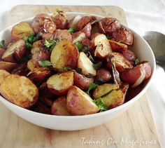 Herb-Roasted Potatoes and Onions via Taking On Magazines