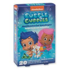 Bubble Guppies Bandages - 20 Per Pack SmileMakers http://www.amazon.com/dp/B00KLKSE52/ref=cm_sw_r_pi_dp_w1ZPub02XM4Q5