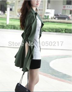 Find More Blazers Information about 2015 Fashion Hot Sale Seven Professional Leisure Dirndl Lady Wearing Trench Coat Sleeve Of the Long Long Sleeve Falbala Coat,High Quality Blazers from Rain Love on Aliexpress.com